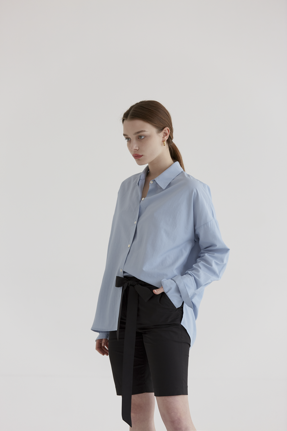 anthese tod cuffs shirt, blue