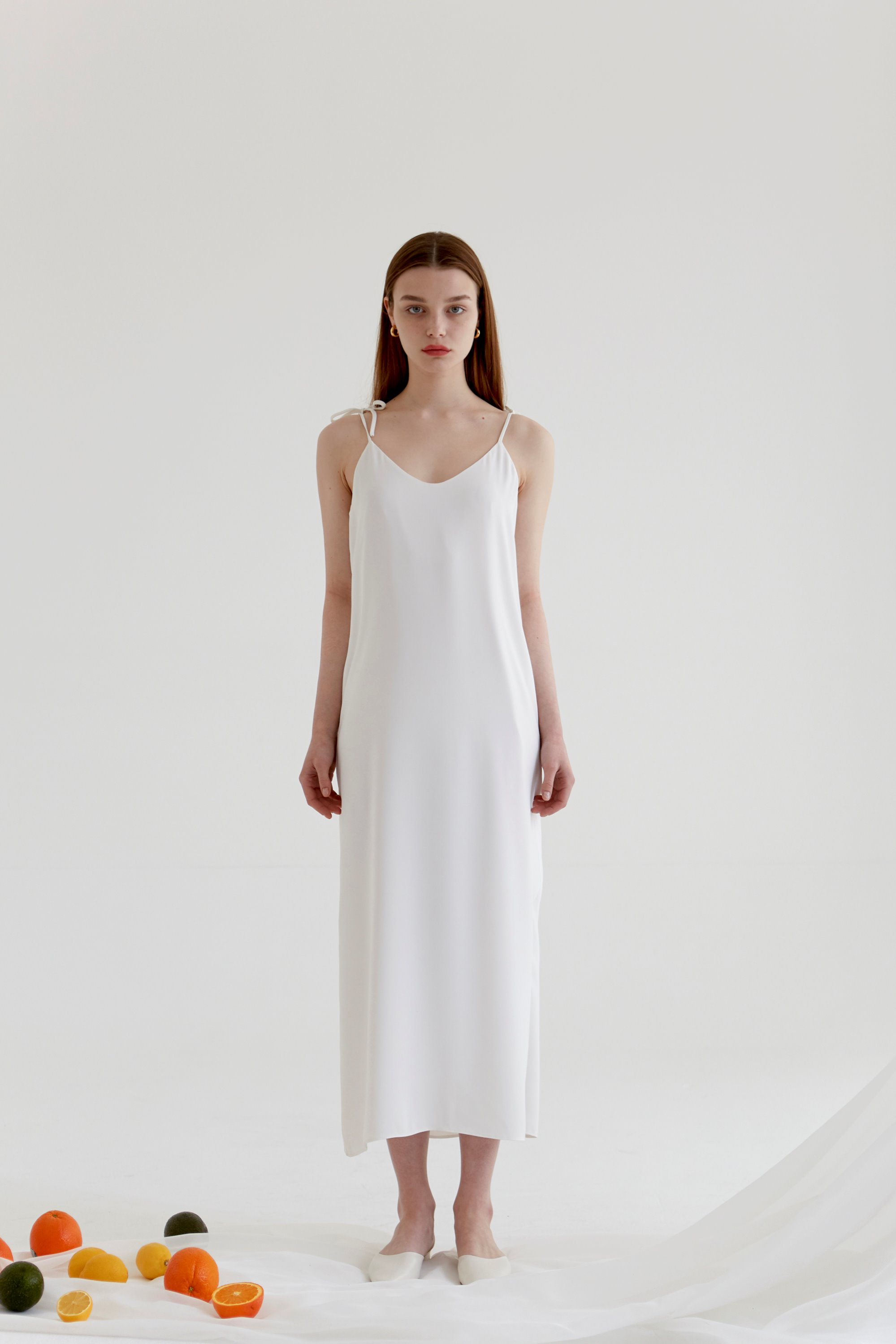 anthese cote slip dress, white (20% discount)