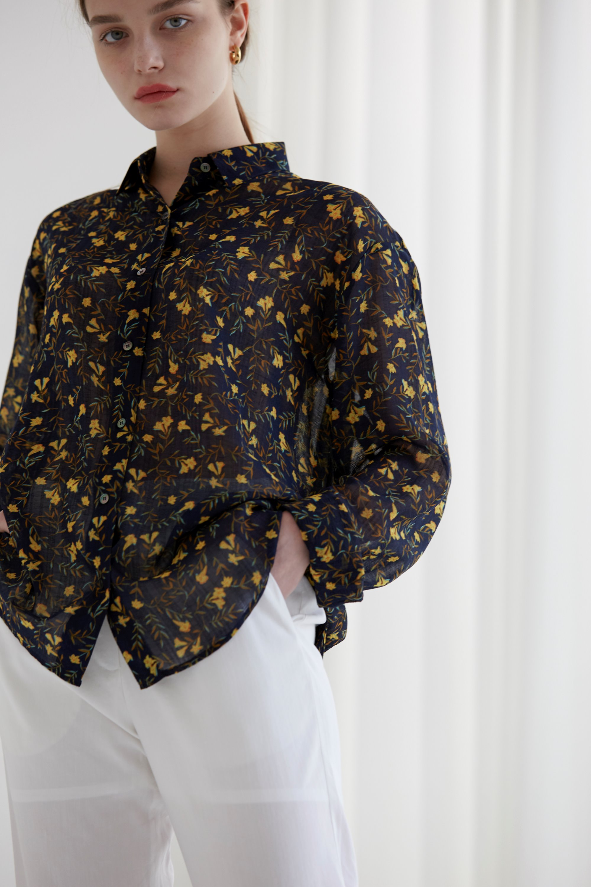 anthese vintage flower shirts, navy (20% discount)