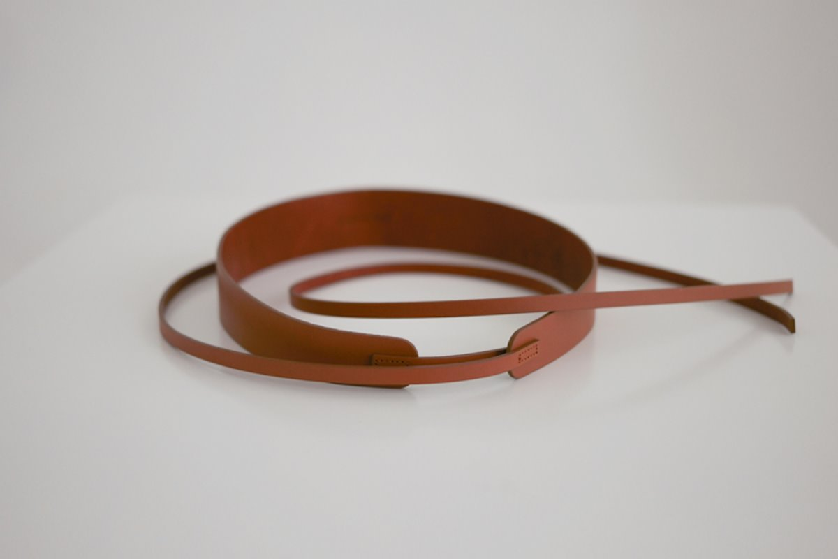 anthese brown tie belt