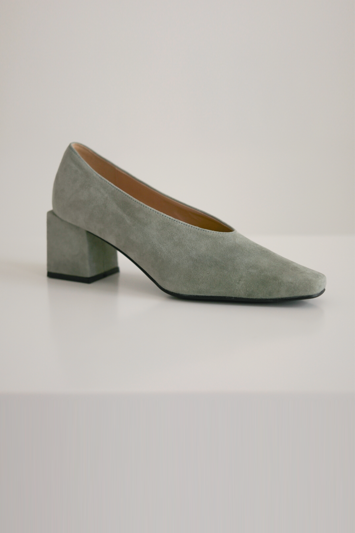 anthese venica square middle heel, suede (mint)