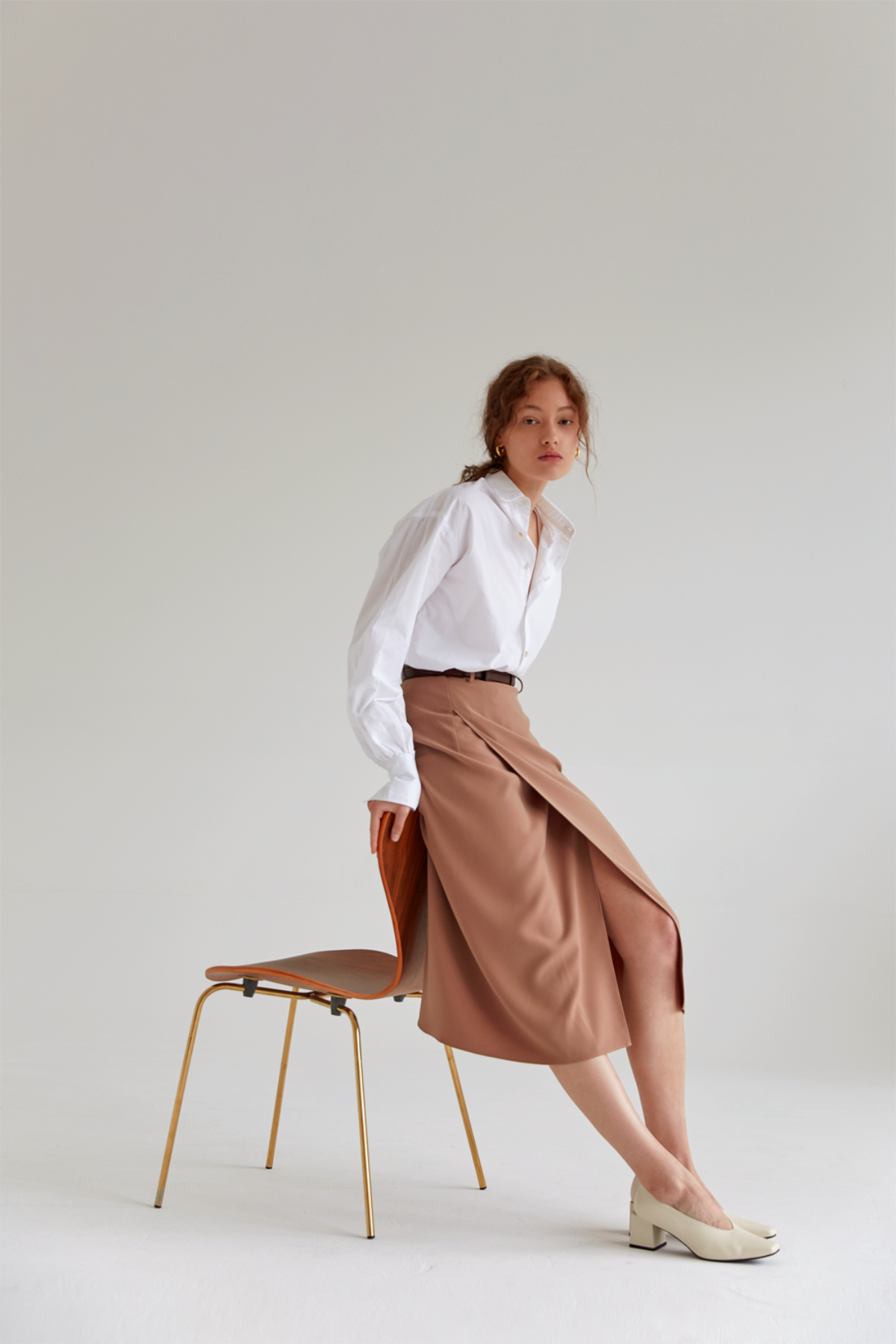 anthese ette skirt, beige