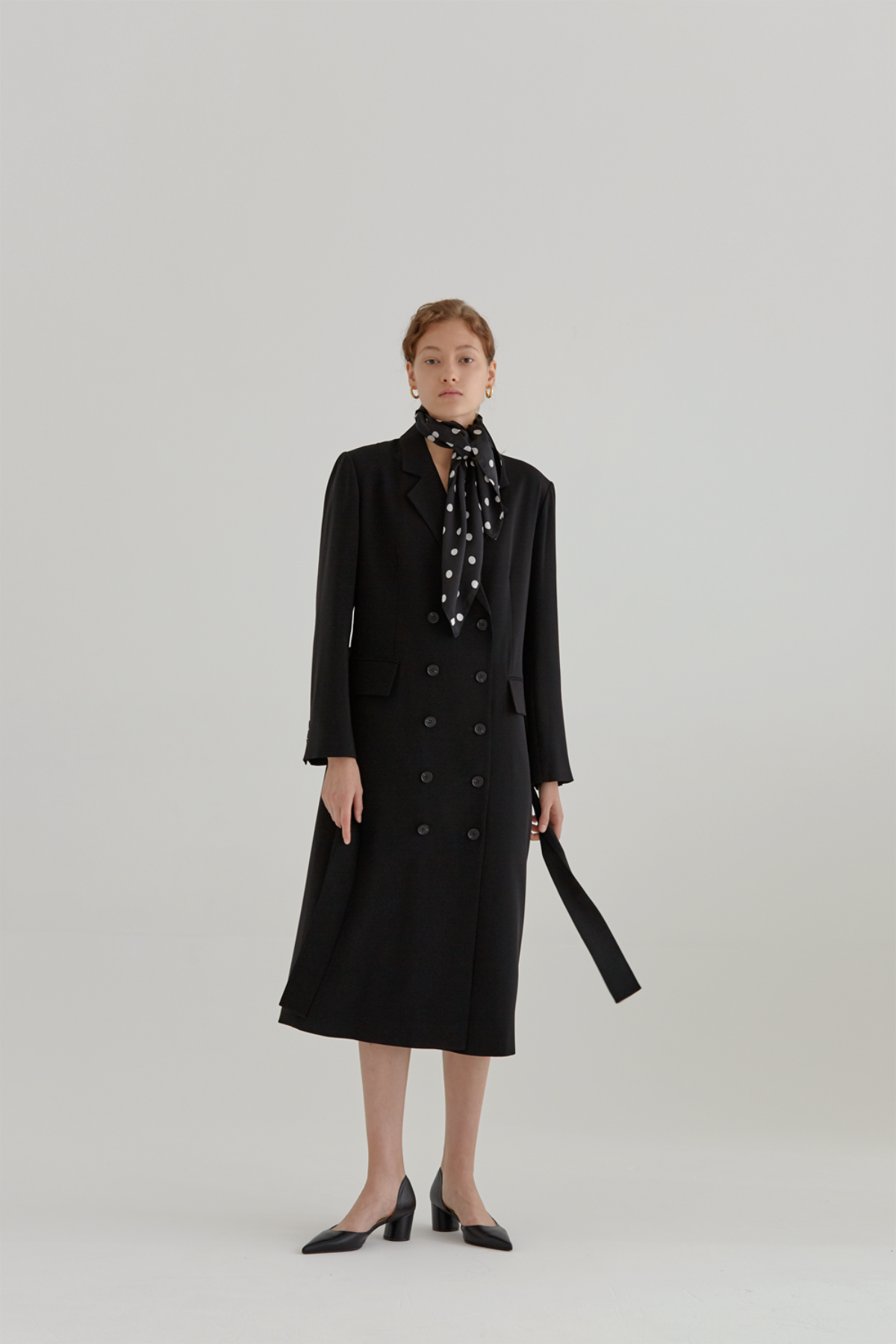 anthese viento long jacket, black
