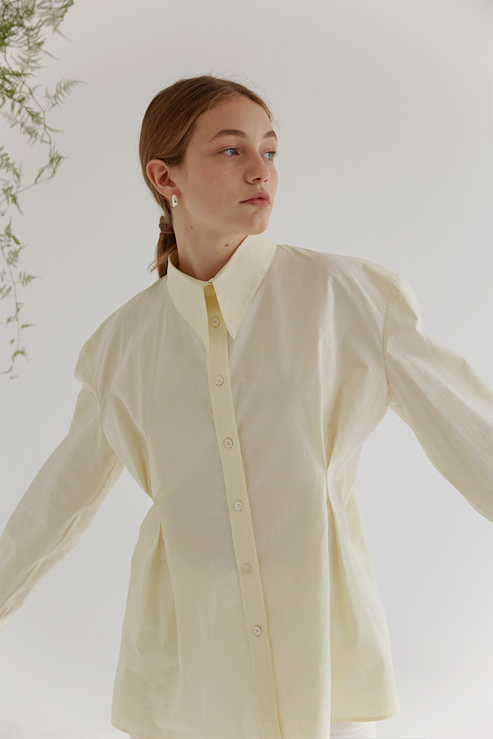 anthese claire point shirts, lemon