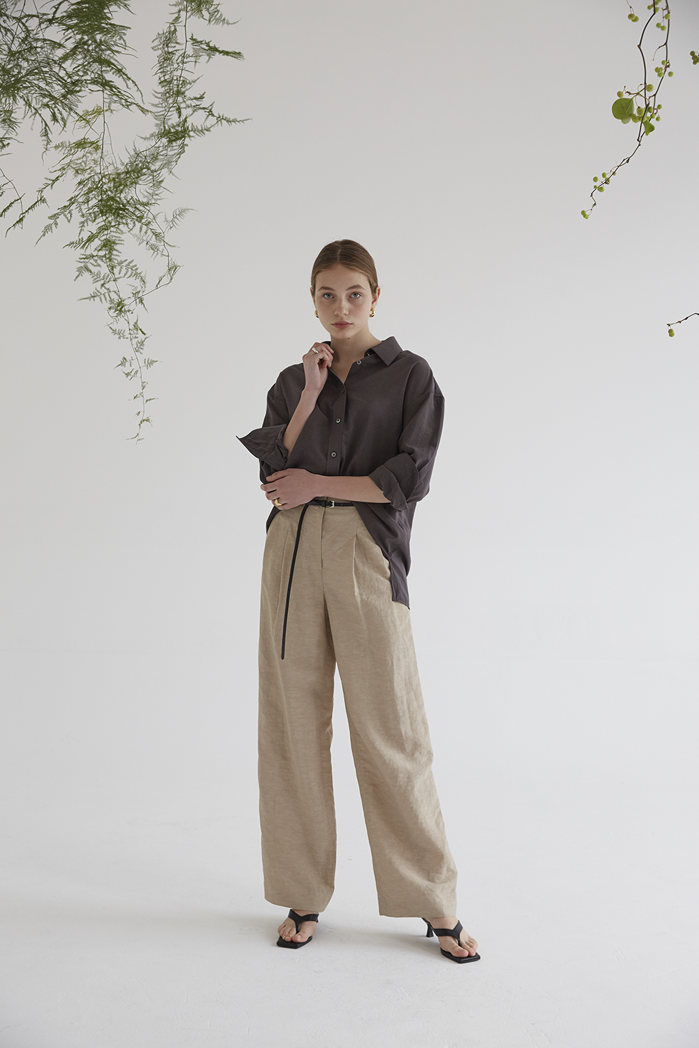 anthese reve wide slacks, beige (10%)