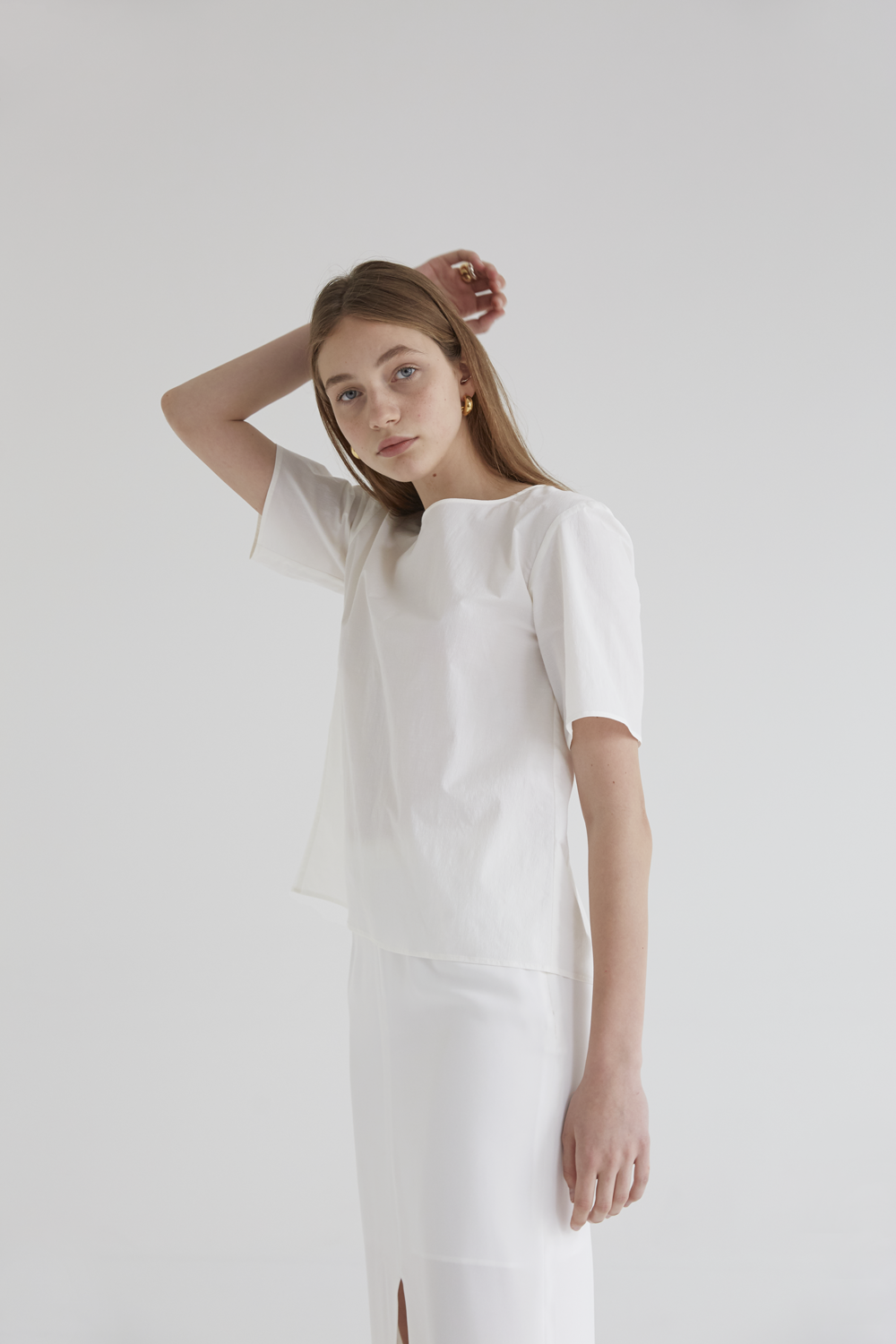 anthese diamant half blouse, white (10%)