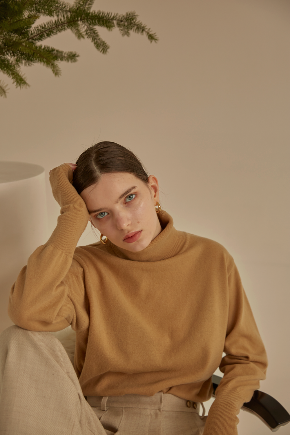 anthese Luz Turtleneck, camel