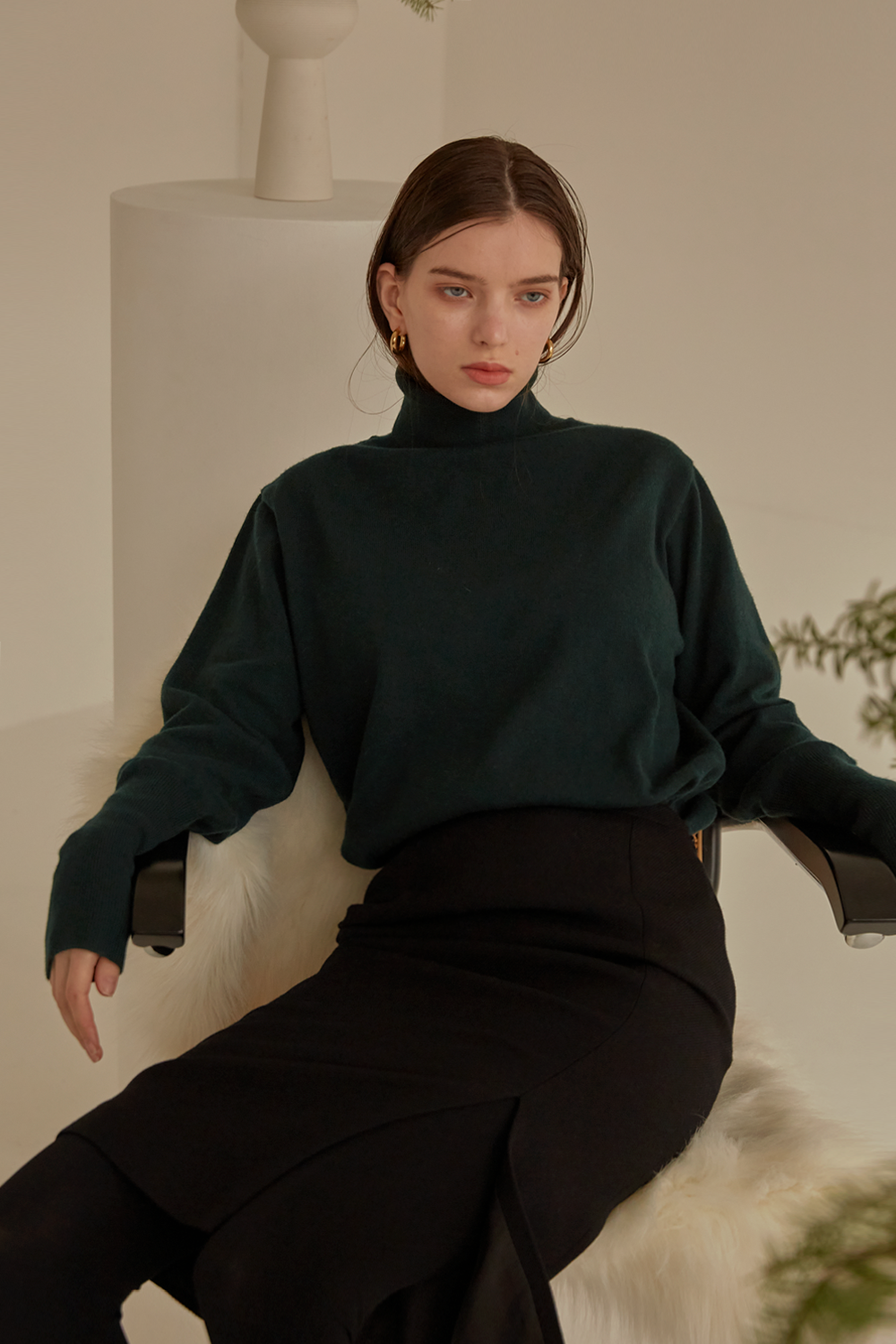 anthese Luz Turtleneck, deep green (35%)