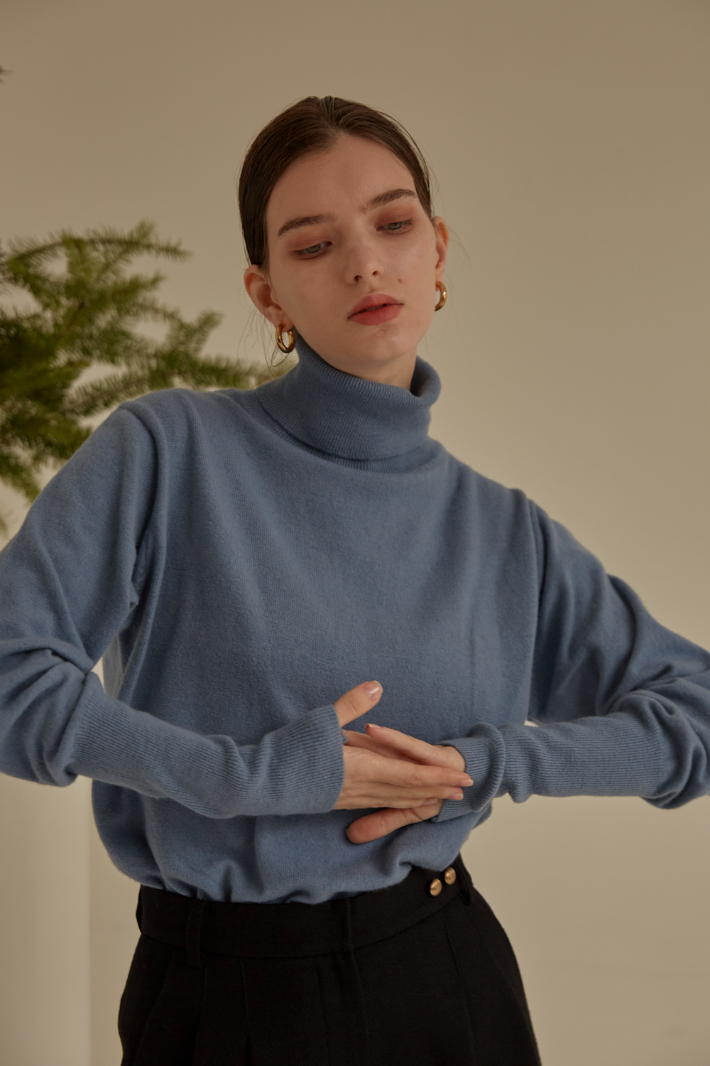 anthese Luz Turtleneck, sky blue