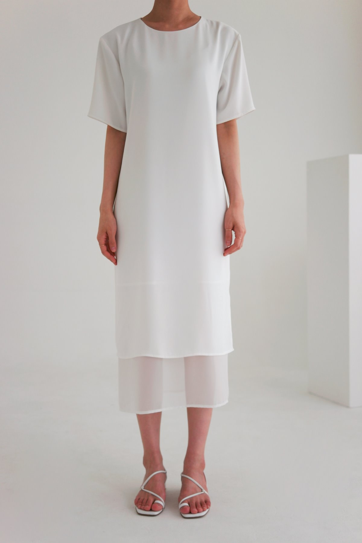 anthese claro layered dress, white (40% discount)